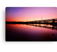 Jetty in the Dawn Canvas Print