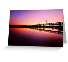 Jetty in the Dawn Greeting Card