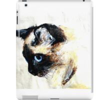 Siamese Cat Acrylics On Paper iPad Case/Skin
