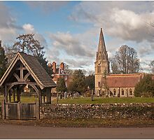 Church and Lych Gate Wickham by AnnCollins