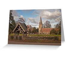 Church and Lych Gate Wickham Greeting Card