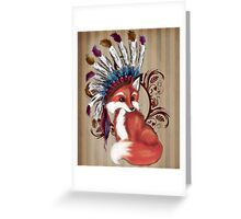 The Fox Chief Greeting Card