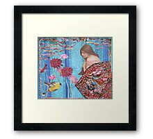 Rose And The Yellow Bird Framed Print