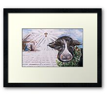 Christmas Cow - Oh to Have Been There... Framed Print