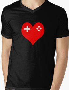 Gaming Love Mens V-Neck T-Shirt