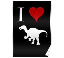 I Love Dinosaurs - Iguanodon (white design) Poster
