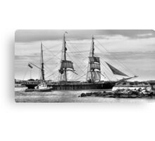 The James Craig - Newcastle Harbour NSW Australia Canvas Print