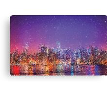 Generative art.  NYC sky line  Canvas Print