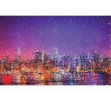 Generative art.  NYC sky line  Photographic Print