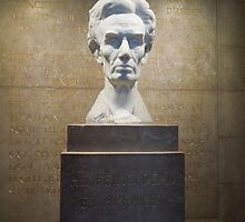 Bust of Abraham Lincoln at the Lincoln Memorial Shrine by DonnaMoore