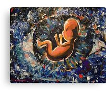 Unto us a child is born.... Canvas Print