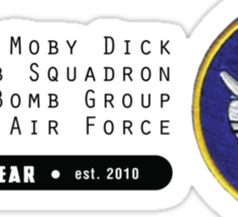 Moby Dick - 320th SQ - 90th BG - 5th AF    Emblem (Black) Sticker