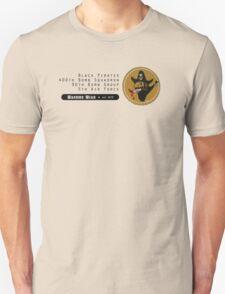 Black Pirates 400th SQ - 90th BG - 5th AF    Emblem (Black) T-Shirt