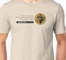 Black Pirates 400th SQ - 90th BG - 5th AF    Emblem (Black) Unisex T-Shirt
