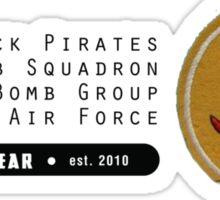 Black Pirates 400th SQ - 90th BG - 5th AF    Emblem (Black) Sticker