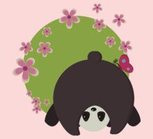 Panda with butterfly Kids Tee