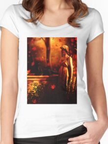Autumn Black Cats Women's Fitted Scoop T-Shirt
