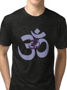 Om Aum symbol - purple Tri-blend T-Shirt