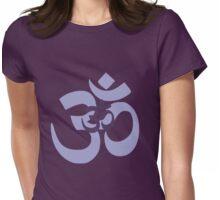 Om Aum symbol - purple Womens Fitted T-Shirt