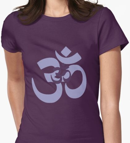 Om Aum symbol - purple Womens Fitted T-Shirt