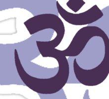 Om Aum symbol - purple Sticker