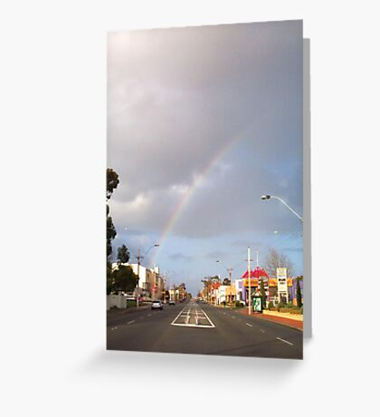Suburban Rainbow 01 Greeting Card