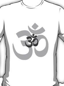 Om Aum symbol - grey T-Shirt