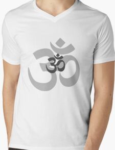 Om Aum symbol - grey Mens V-Neck T-Shirt