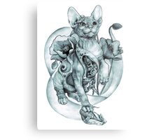 RISHAMA steampunk tattoo cat kitten biomechanics mechanics vintage Metal Print