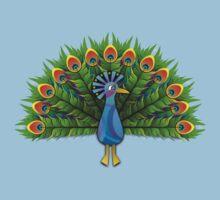 Peacock One Piece - Short Sleeve