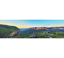 Cliffs of Red  - Panorama of Pearce's Pass Photographic Print