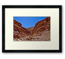 Coloured Canyon, South Sinai, Egypt Framed Print