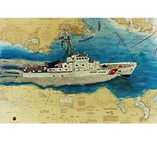 USCG Cuttyhunk WA Nautical Chart Cathy Peek Photographic Print