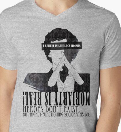 Sherlock: I believe in SH Mens V-Neck T-Shirt