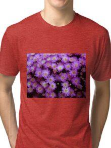 Purple Mums  ^ Tri-blend T-Shirt