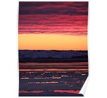 Sunset at Churchill, Canada Poster
