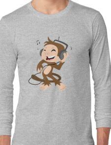 monkey dancing Long Sleeve T-Shirt