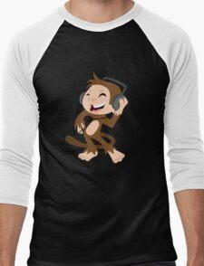 monkey dancing Men's Baseball ¾ T-Shirt