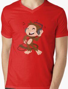 monkey dancing Mens V-Neck T-Shirt