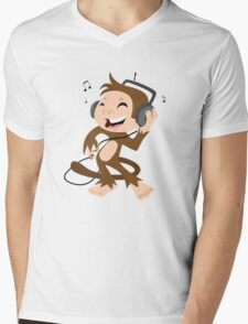 monkey dancing Mens V-Neck T-Shirt