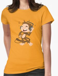 monkey dancing Womens Fitted T-Shirt