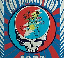The Grateful Dead psychedelic poster by cruzdesign