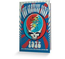 The Grateful Dead psychedelic poster Greeting Card