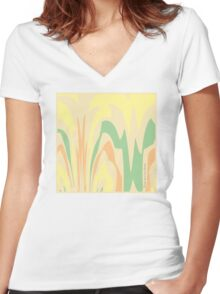 Spring Morning Abstract Women's Fitted V-Neck T-Shirt