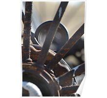 Old rusty farm rake  Poster