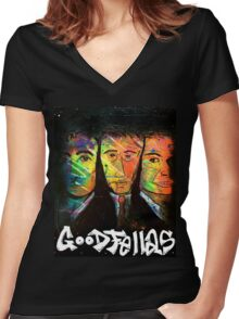 """GOODFELLAS"" Women's Fitted V-Neck T-Shirt"