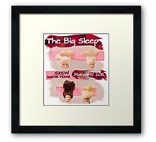 """The Line Up"" Entry for The Big Sleep SXSW Austin Texas  Framed Print"