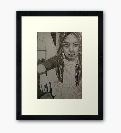 barely there . . .  Framed Print