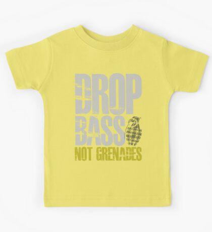 Drop Bass Not Grenades (gray/dark yellow) Kids Tee