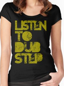 I listen to Dubstep  Women's Fitted Scoop T-Shirt